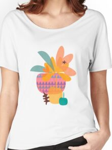 Tropical T-shirt femme coupe relax