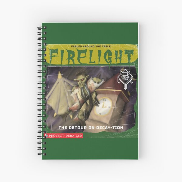 Firelight - Detour on Decay-tion Spiral Notebook