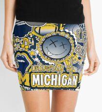 Michigan Collage Mini Skirt