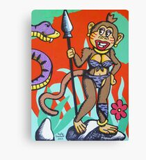 Margerie Munkay meets Mr. Cubroxo Canvas Print