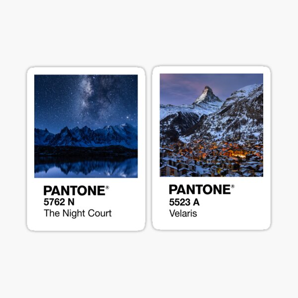 Velaris and the Night Court Pantone Sticker