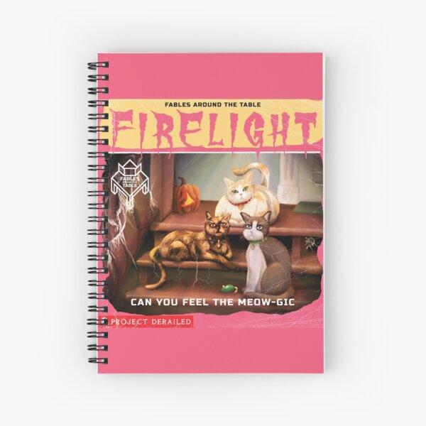 Firelight - Can you Feel the Meow-gic? Spiral Notebook