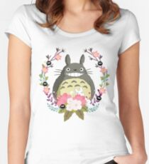 Totoro and the Spring Women's Fitted Scoop T-Shirt