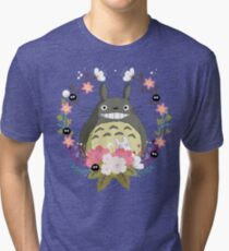 Totoro and the Spring Tri-blend T-Shirt
