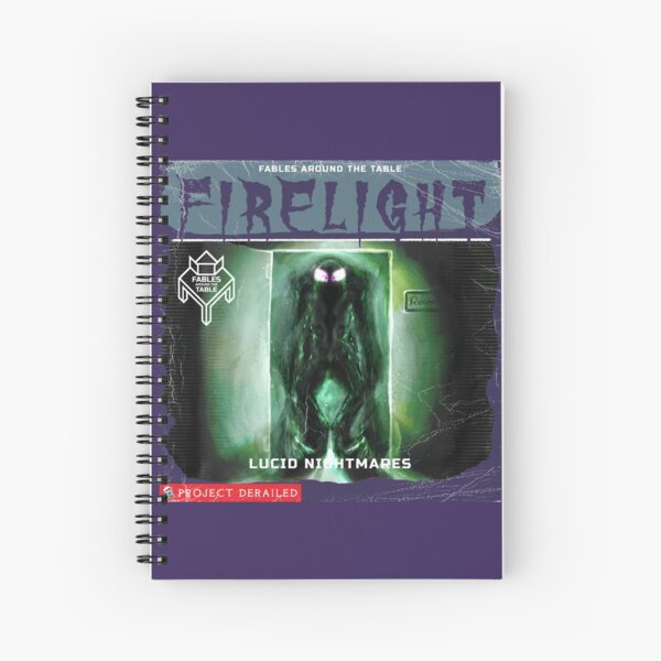 Firelight - Lucid Nightmares Spiral Notebook