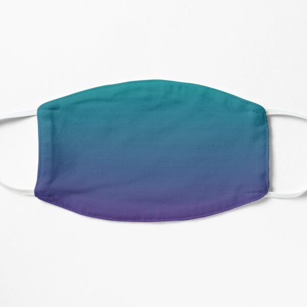 Ombre | Gradient Colors | Teal and Purple |  Flat Mask