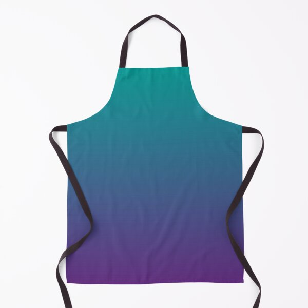 Ombre | Gradient Colors | Teal and Purple |  Apron