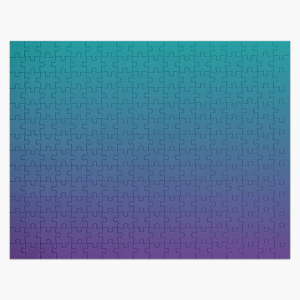Ombre | Gradient Colors | Teal and Purple |  Jigsaw Puzzle