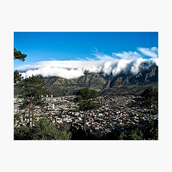 Table Mountain Cape Town Cityscape, South Africa  Photographic Print