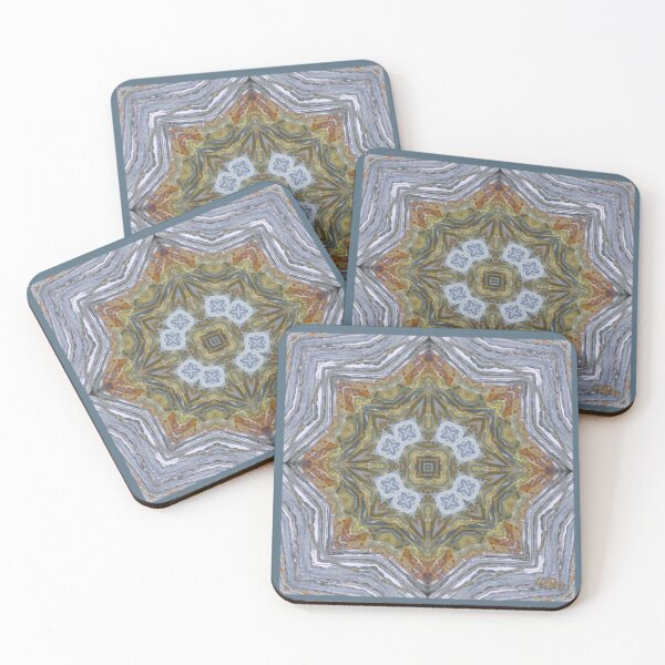 D1G1TAL-M00DZ ~ GALLIMAUFRY ~ Rocks on Beach by tasmanianartist 150420 Coasters (Set of 4)