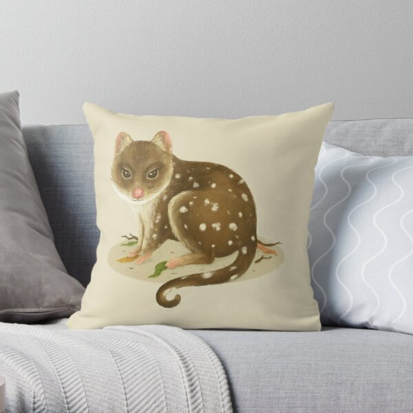 The Lovely Quoll Throw Pillow