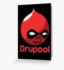 Drupool Greeting Card