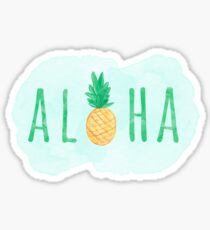Aloha Hawaii Pineapple Quote Sticker