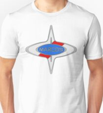 Marcos Car Badge, Colour fill, Black Outline T-Shirt