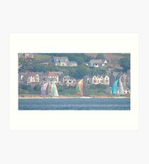 Boats in Water Colour  - Donegal - Buncrana Ireland Art Print