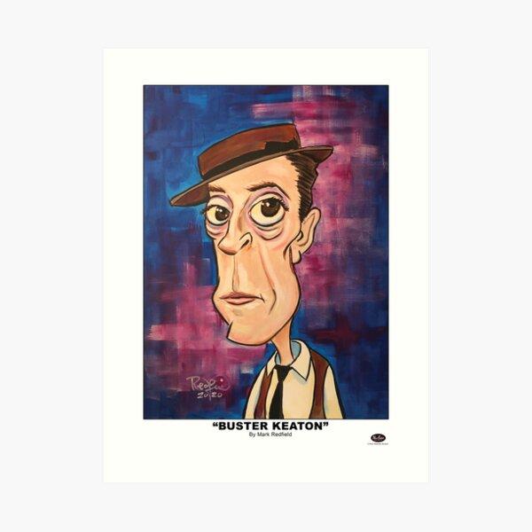 """""""Buster Keaton"""" By Mark Redfield Art Print"""