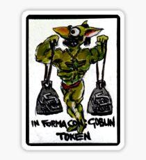 Magic The Gathering Funny Goblin Tokens Sticker