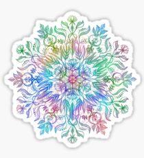 Natur Mandala in Regenbogenfarben Sticker