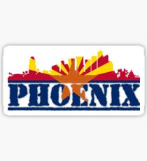 Phoenix Skyline with Arizona Flag Sticker