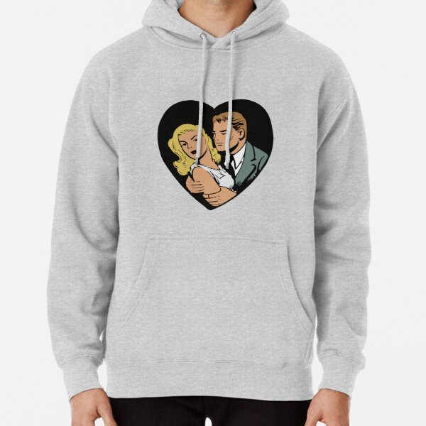 Vintage Heart Couple Pullover Hoodie