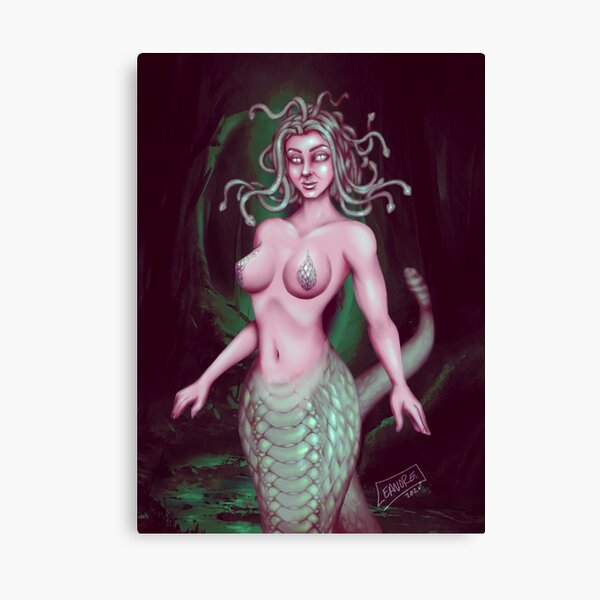 Medusa: Stone Cold Beauty Canvas Print