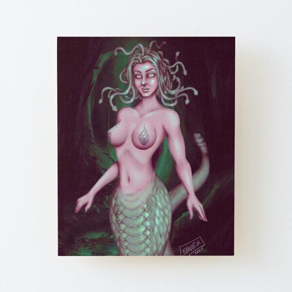 Medusa: Stone Cold Beauty Wood Mounted Print
