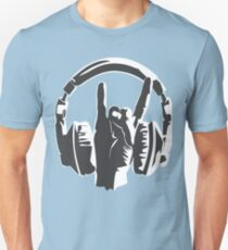 metal music fans headset dj T-Shirt