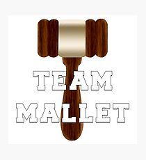 Team Mallet Photographic Print