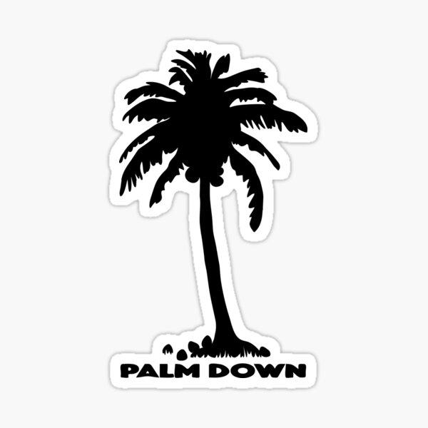Palm Down (Calm Down) Coconut Tree Sticker