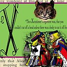 Alice in Wonderland and Through the Looking Glass Alphabet X by Samitha Hess Edwards