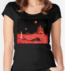 CITY ON MARS Women's Fitted Scoop T-Shirt