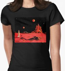 STADT AUF MARS Tailliertes T-Shirt für Frauen