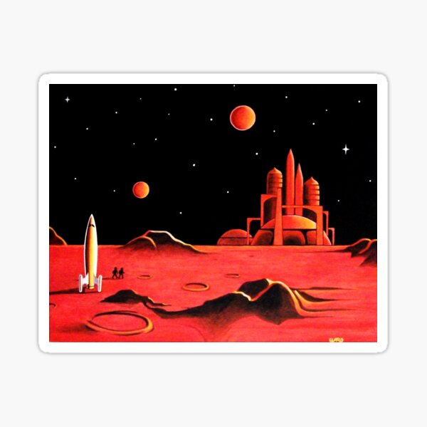CITY ON MARS Sticker