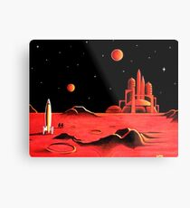 CITY ON MARS Metal Print