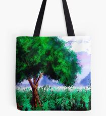 Tree in a Field Tote Bag