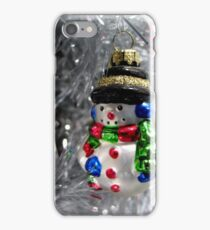 Snowman Ornament Christmas Card iPhone Case/Skin