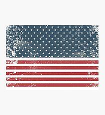 distressed american Flag  Photographic Print