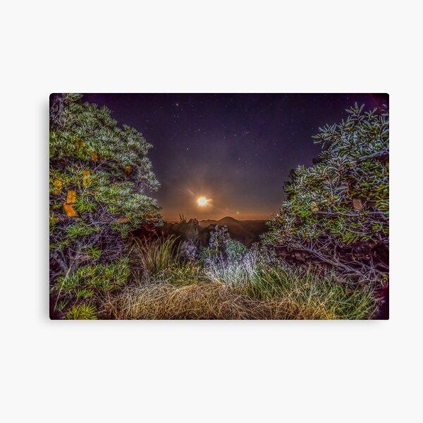 glass house mountains moon Canvas Print