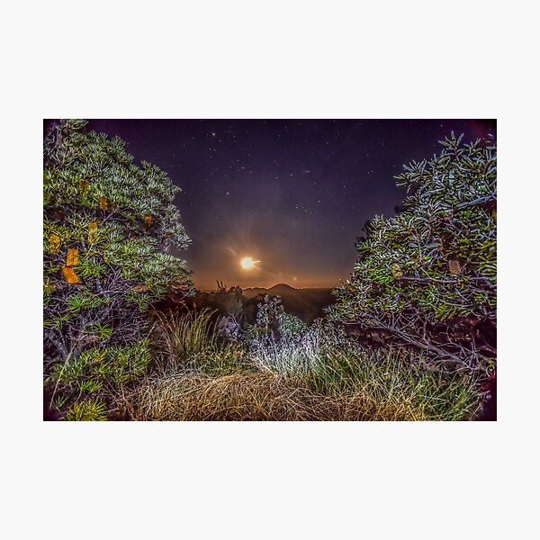 glass house mountains moon Photographic Print