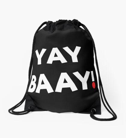 YAY BAAY! (White) Drawstring Bag