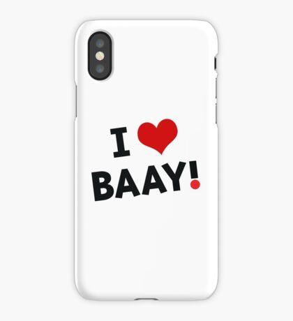 I LOVE BAAY (Black) iPhone Case