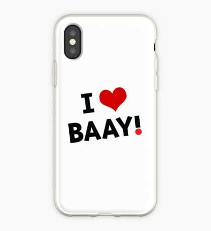 I LOVE BAAY (Black) iPhone Case