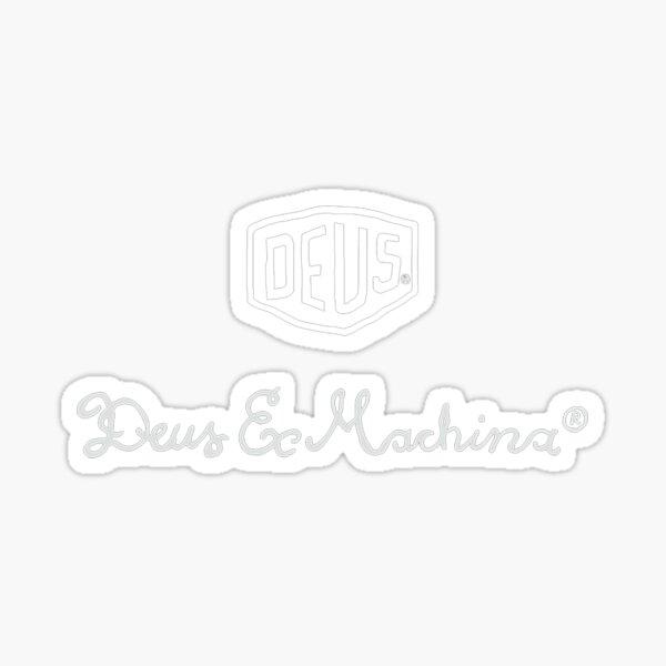 tendance deus blanc Sticker