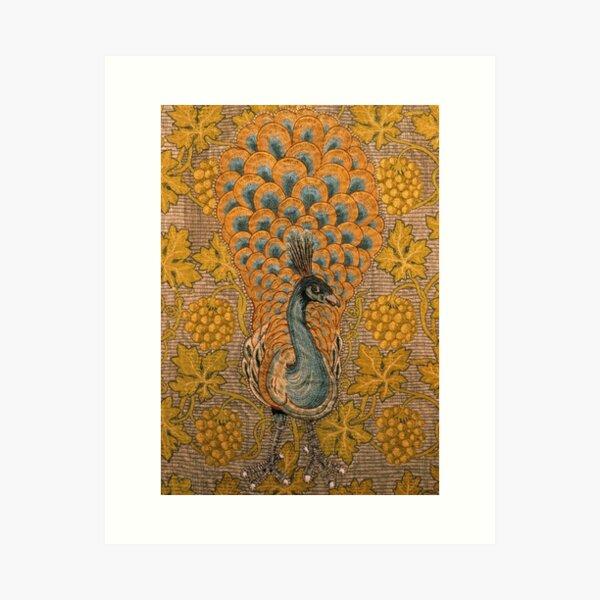 Detalle de pavo real y vid, William Morris y Philip Webb Lámina artística