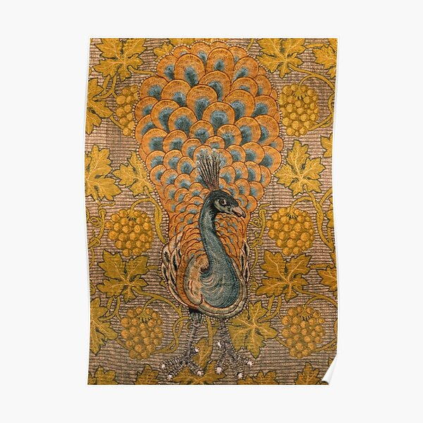 Peacock And Vine Detail, William Morris And Philip Webb Poster