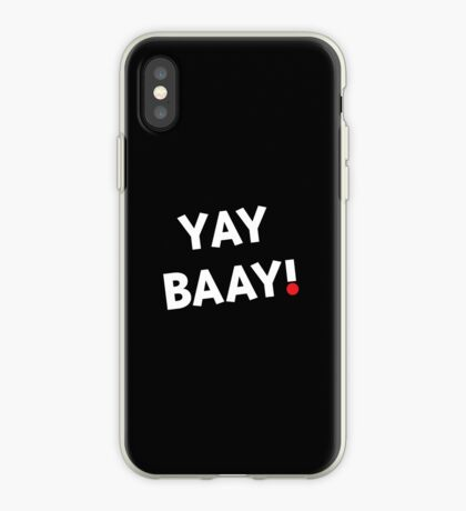 YAY BAAY! (White) iPhone Case