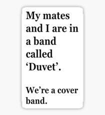 We're in a cover band Sticker