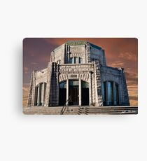 Vista House on Crown Point at Sunset Canvas Print