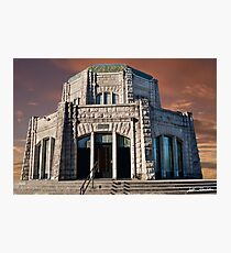 Vista House on Crown Point at Sunset Photographic Print