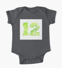 12th Man Art Seattle Watercolor Space Needle One Piece - Short Sleeve